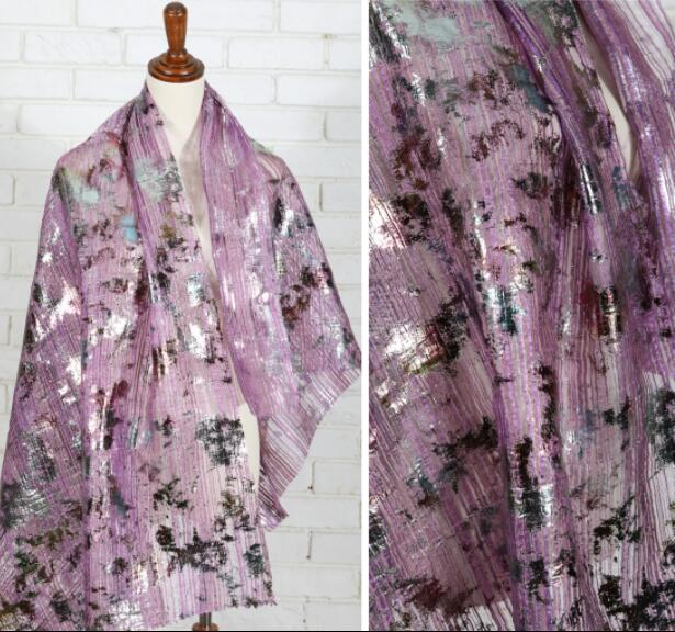 Purple camouflage gauze gilded perspective vertical Organza fabric sewing patch textiles diy polyester tissu telas fabric C859