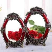 Wedding mirror red bride female makeup mirror desktop wedding supplies dowry princess dressing mirror retro