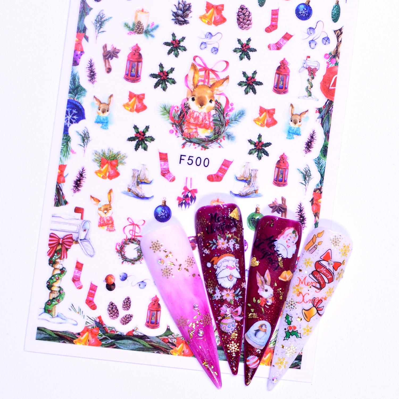 YZWLE 1 шт. рождественские/садовые цветы/танцевальные цветы для дизайна ногтей, обертывания, хлопья, Слайдеры для маникюра
