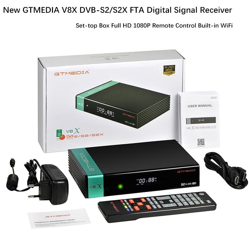 Gtmedia V8X 1080P Volle HD DVB-S2/S2X Buil-in Wifi aktualisiert von gtmedia V8 NOVA Satellite Empfänger box Gtmedia V8X Herrlichkeit upgrade