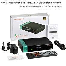 Gtmedia v8x 1080p hd completo DVB-S2/s2x bull-in wifi atualizado a partir de gtmedia v8 nova receptor de satélite caixa gtmedia v8x glória atualizar