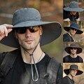 Летняя обувь для прогулок; Ботинки в рыбацком стиле шляпа Для мужчин большой шляпа с широкими полями Шапки Водонепроницаемый шляпа кемпинг ...