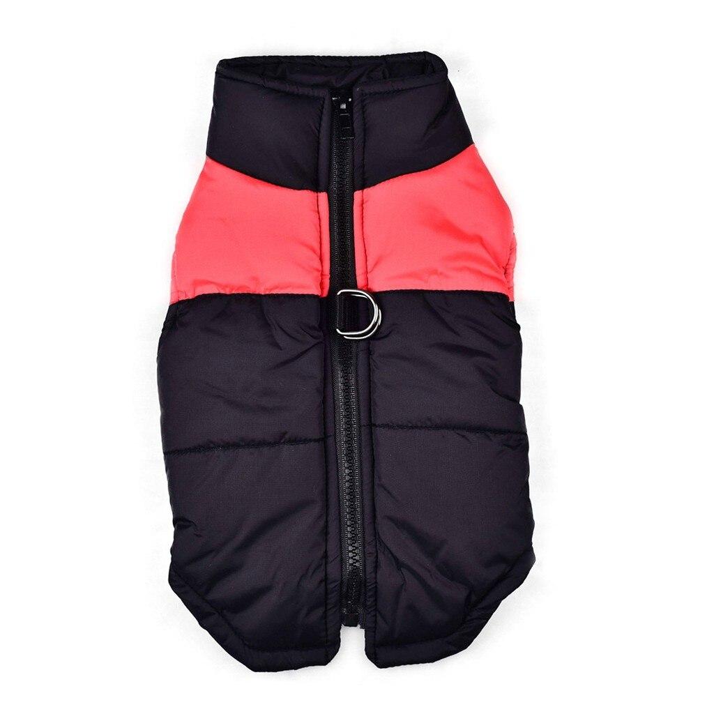 Осень-зима, модная удобная одежда для домашних животных, классический цвет, подходящий пуховый жилет, модная удобная Удобная практичная одежда для отдыха - Цвет: Красный