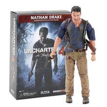 17cm neca nathan drake uncharted 4 um ladrão final edição figura de ação coleção modelo brinquedos