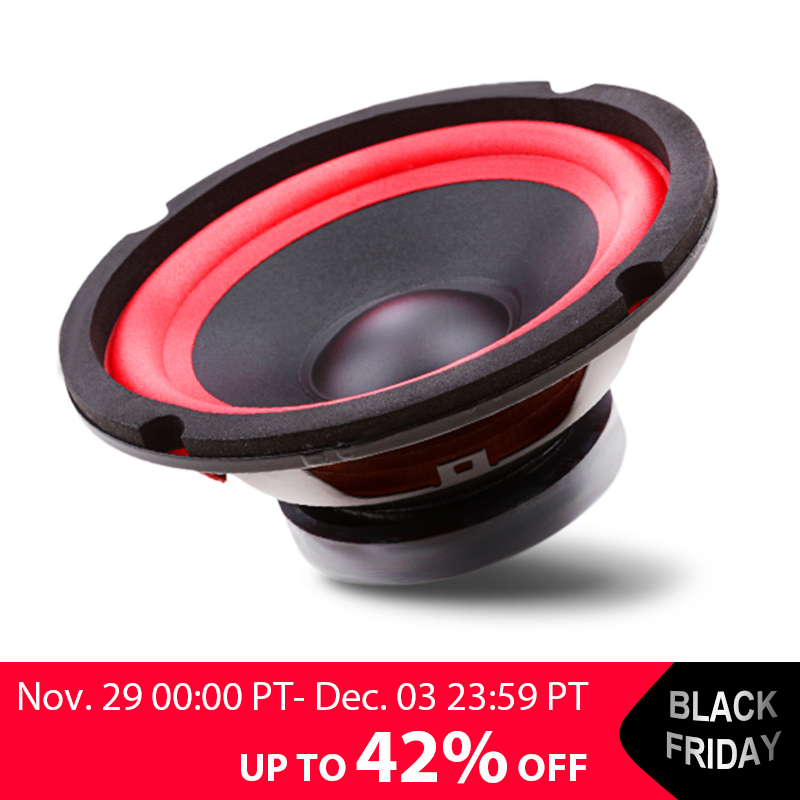 5inch 4 Ohm 25W Waterproof Midrange Audio 2-Way Speaker Stereo Subwoofer Loudspeaker Horn Electric Vehicle Accessories 25HZ-20KH