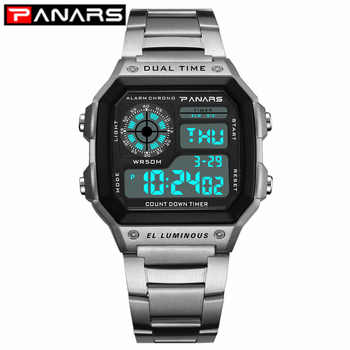 PANARS 2019 New Arrival Luminous Sport Watch Multifunction Men\'s Waterproof Wrist Watch Fitness Digital Watch Alarm Timer Clock - DISCOUNT ITEM  42 OFF Watches