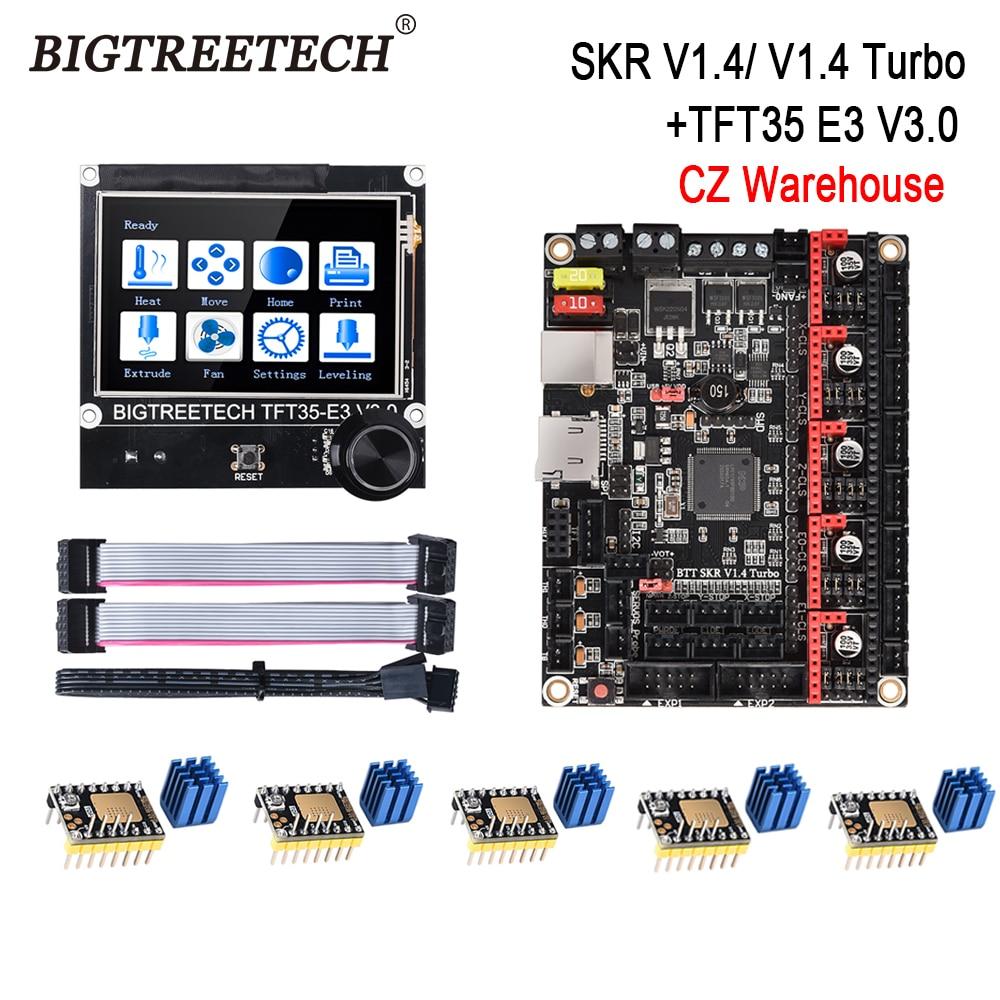 BIGTREETECH BTT SKR V1.4 Turbo 32-битная плата управления TFT35 E3 V3.0 сенсорный экран TMC2209 2208UART драйвер SKR V1.3 Ender 3 обновление