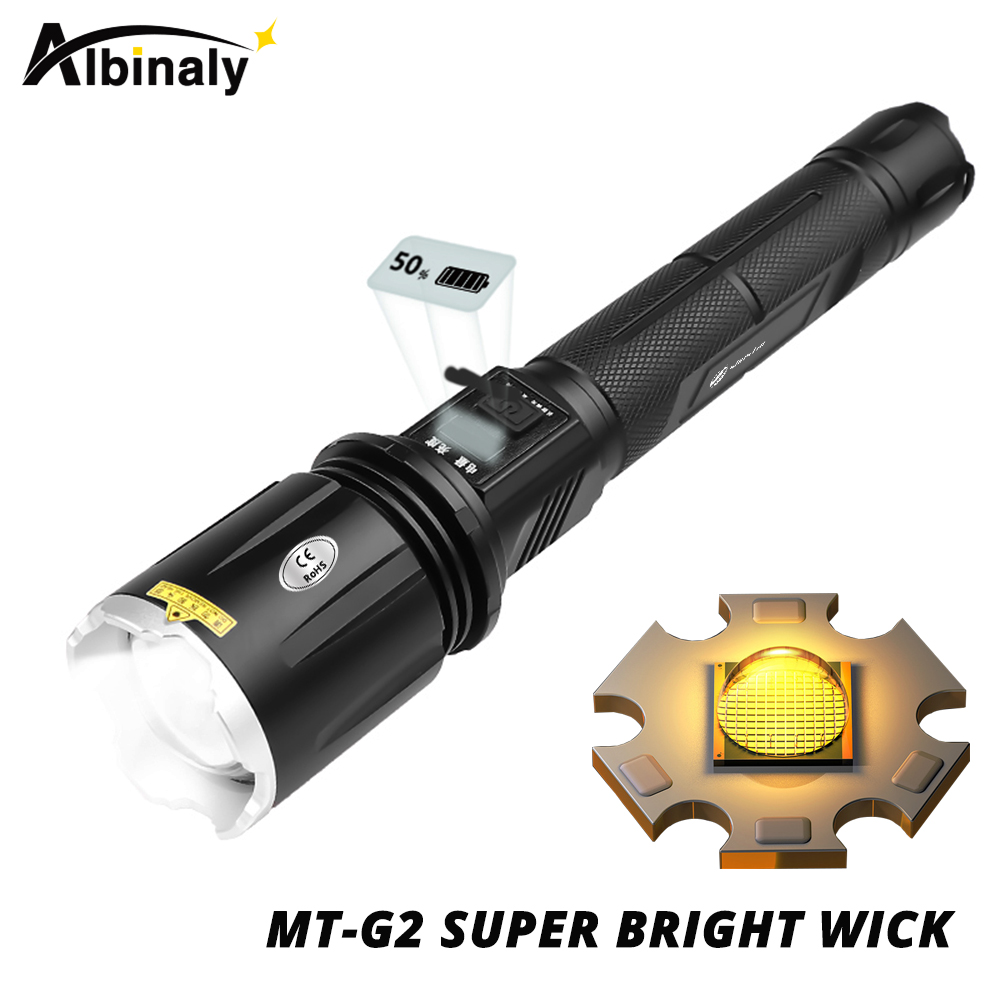 Sunlight MT-G2 wick LED Flashlight 4 lighting modes Zoomable camping light Suitable for hunting, adventure
