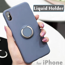 Liquid Holder for iPhone XR Case on 7 8 X XS Max Phone Cover Protector iP7 iP8 Soft Silicone