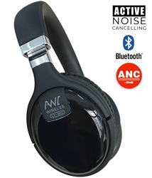 ANC Active Noise Cancelling Wireless Bluetooth Headphones Wired HeadSet With Microphone Earphone Deep Bass Hifi Sound
