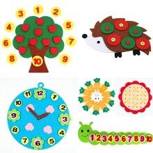 Enseñanza jardín de infantes hecho a mano, Manual, tejido de tela, Juguetes educativos de Aprendizaje Temprano de bebé Montessori, enseñanza, ayuda, matemáticas, Juguetes