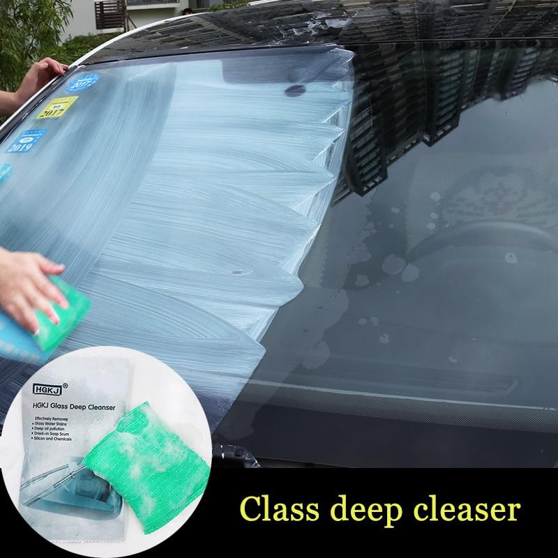 Car Scratch Remover Liquid Sponge Glass Deep Cleanser Car Glass Cleaning Sponge Glass Remove Oil Film Car Styling HGKJ