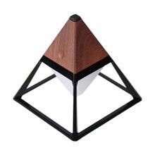 Лучший пирамиды Водонепроницаемый настольная лампа для чтения Usb Перезаряжаемые сенсорный Сенсор аккумуляторный светодиодный светильник складной стол ночной Светильник темно-коричневого цвета