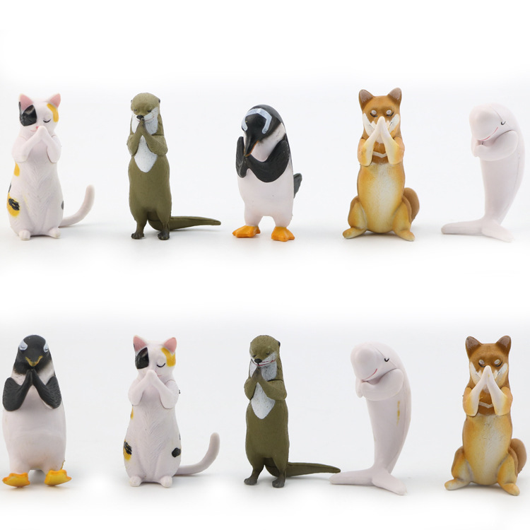 2pcs GINTAMA Japanese anime mascots Sadaharu Elizabeth dog penguine figure
