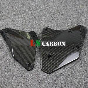 Полностью углеродное волокно для Kawasaki H2 аксессуары для мотоциклов боковые панели сиденья (задние боковые панели)