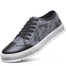 Sneakers Men Casual Shoes High Quality Lace Up Leather Men Platform Shoes Genuine Leather Working Shoes Size 38-43 E0092 цена