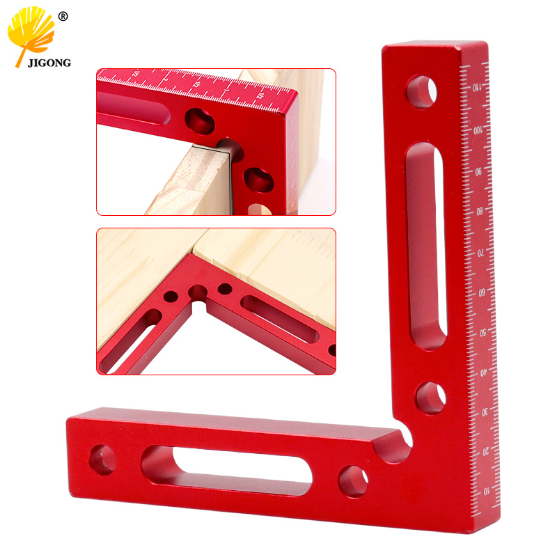 90degree L-shaped auxiliary jig 120x120mm square right angle protractor corrosion-resistant clip carpenter woodworking tools
