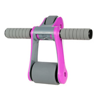 Folding Abdominal Wheel Ab Roller with Mat Muscle Training Gym Exercise Fitness Equipment