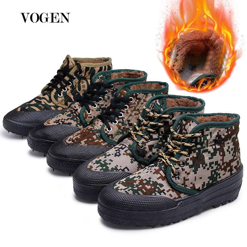 Winter Camouflage Military Boots Tactical Winter Woodland Boot Big Size 11 High Top Sneakers Snow Boots Male Comfortable Shoe