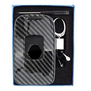 Image 5 - Apktnka 4 Button Carbon Fiber Car Remote Control Key Shell Cover Case Fob For Renault Kadjar Megane Clio 2016 2017 2020 2021