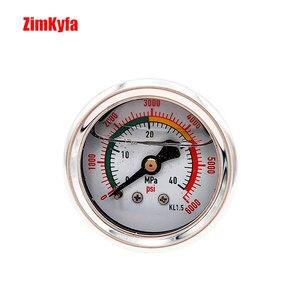 Image 2 - Manomètre de pompe à Air à main PCP 40MPA / 6000psi manomètre haute pression Double gamme M10 * 1.0