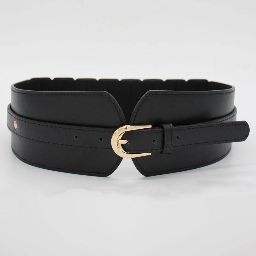 Fashion Women Lady Girl Skinny Waist Belt Thin Leather Narrow Elastic Stretchy Waistband Cummerbunds