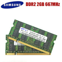 Samsung Laptop Geheugen DDR2 2 Gb 800 Mhz PC2-6400S Notebook Ram DDR2 2G 800 6400S 2G 200 -Pin SO-DIMM