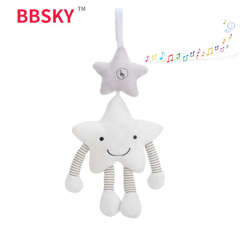 BBSKY Star Music Wind-bell Pendant Baby Carriage Plush Hanging Toys Baby Plush Toy