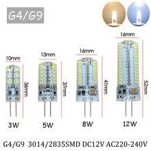 10 pçs/lote G4 CONDUZIU a Lâmpada Mini Lâmpada LED AC DC 220V 12V SMD3014 Holofotes de Iluminação Lustre de Alta Qualidade Substituir As Lâmpadas de Halogéneo
