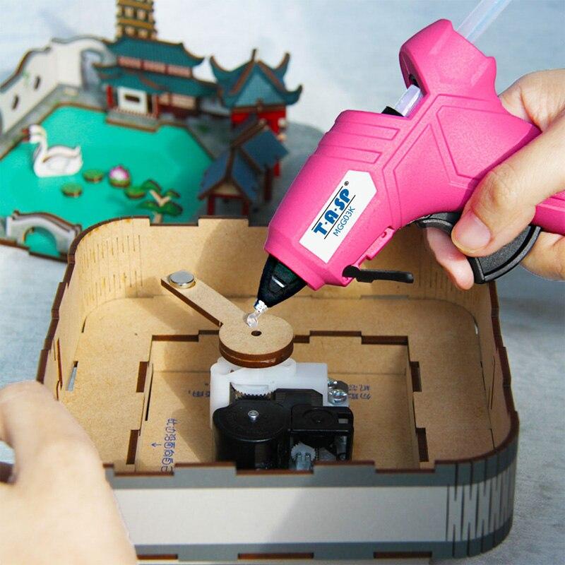 Image 4 - 220V 12(70)W DIY Mini Hot Glue Gun Silicone Melt Repair Tools with 10pcs 7mm Sticks-in Glue Guns from Tools on