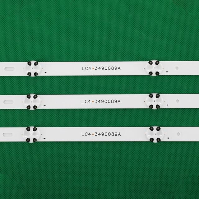 3 PCS LED Backlight strip for LG 43UJ635V 43UK6300PLB 43UJ651V 43UJ634V 43UJ630V 43UJ561V 43UJ655V LC43490059A LC43490058A 4