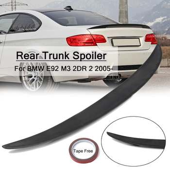 ABS Car Rear Trunk Spoiler Lip Wing Wings Guard Matte Black 9-T-0256 For BMW E92 M3 2DR 2 2005 - image