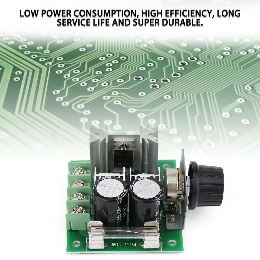Universal 12V-40V 10A 13khz Pulse Width Modulation PWM DC Motor Speed Regulator Controller Switch Black