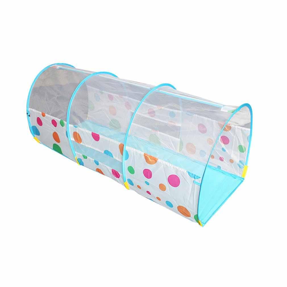 Túnel de arco de puntos para niños, tubo de arrastre para bebés, agujero de taladro infantil, entrenamiento con sentido, Fondo de engrosamiento, Control de inundación