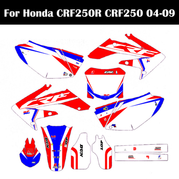 Motorcycle Dirt Bike Graphic Stickers Kits Background Decals For Honda CRF250 CRF250R CRF 250 250R 2004 2005 2006 2007 2008 2009 for honda crf250r crf 250 r crf 250r 2007 2017 08 09 10 11 12 13 14 15 2016 2017 motorcycle motocross pivot brake clutch levers