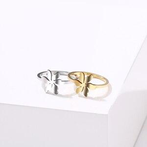 Кольцо DOTIFI для женщин, ювелирное изделие из нержавеющей стали золотого и серебряного цвета с листьями садовых цветов, подарок на день Свято...
