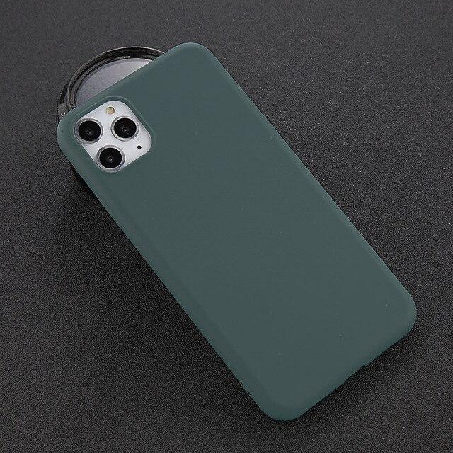 USLION Del Silicone di Caso di Colore Solido per il iPhone XS 11 Pro MAX XR X XS Max Della Caramella Custodie Del Telefono per il iPhone 11 7 6 6S 8 Più Molle Della Copertura 3