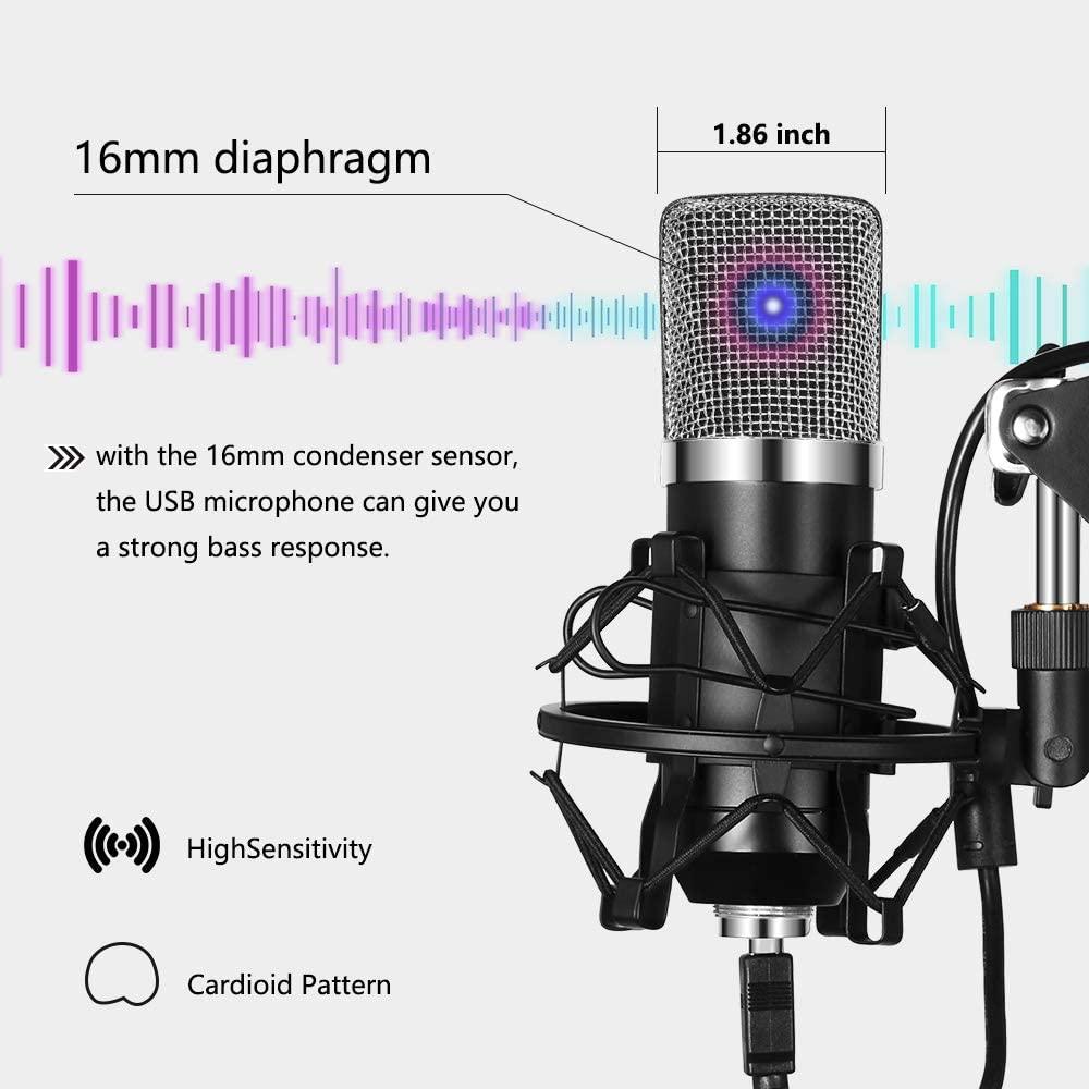 de podcast, jogo profissional do microfone do