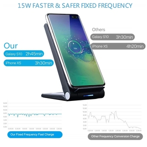 Image 2 - DCAE 15W Qi Wireless Charger Stand PadสำหรับiPhone 12 11 Pro X XS Max XR 8 10W fast Charging Dock StationสำหรับSamsung S20 S10 S9