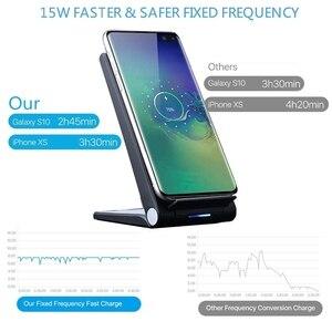 Image 2 - DCAE 15W Qi bezprzewodowa ładowarka stojak Pad dla iPhone 12 11 Pro X XS Max XR 8 10W szybka stacja dokująca do Samsung S20 S10 S9