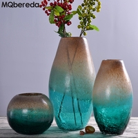 Creative Glass Vase Art Decoration Simple Floral Jewelry Transparent American Bottled Green Fried Grain Floral Arrangement