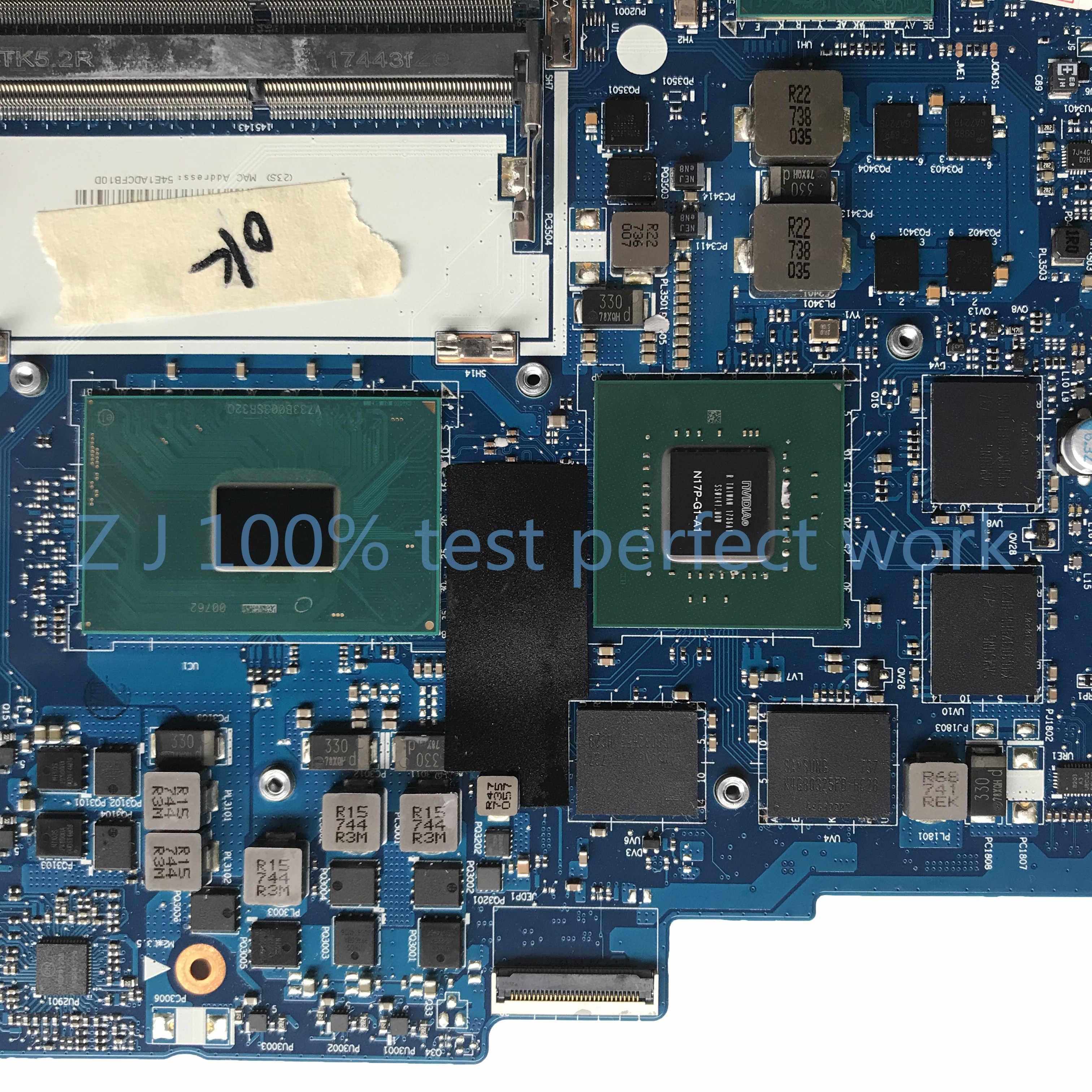 لينوفو فيلق Y520 Y520-15IKBN اللوحة الأم للكمبيوتر المحمول 5B20N00280 مع وحدة المعالجة المركزية i7-7700HQ GTX 1050Ti 4GB DY512 NM-B191 MB 100% اختبارها
