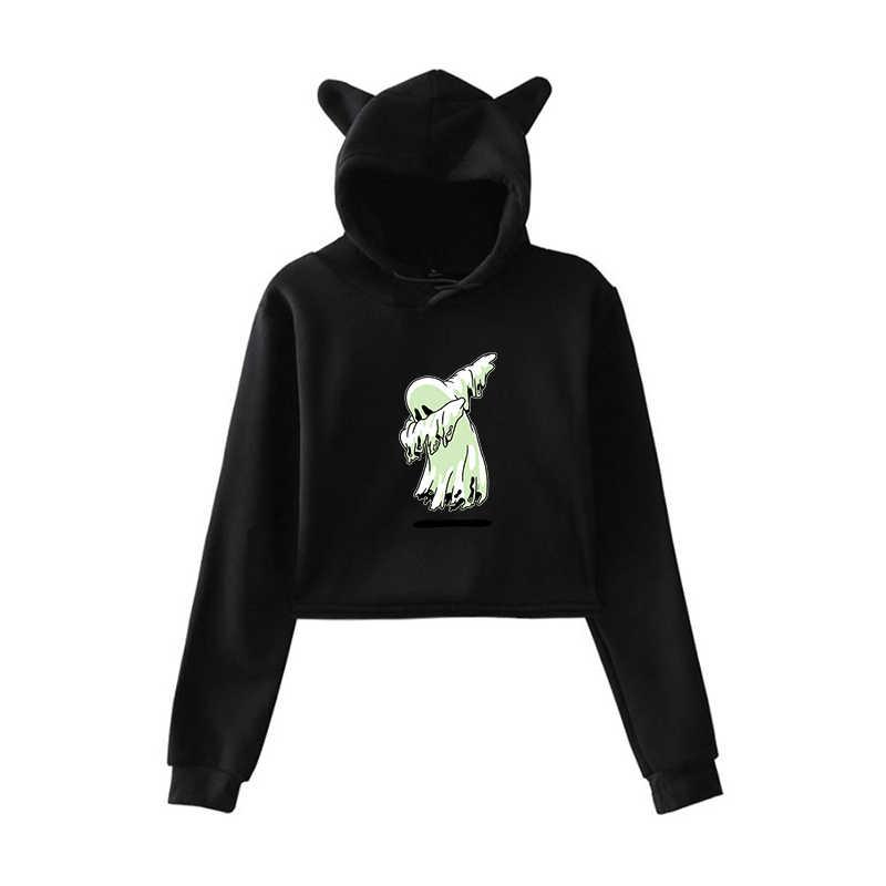 Mode Schöne Streetwear Hoodies Halloween Gedruckt Sweatshirts Teenager Mädchen Harajuku Mit Kapuze Sweatshirt Pullover Frauen Hoody