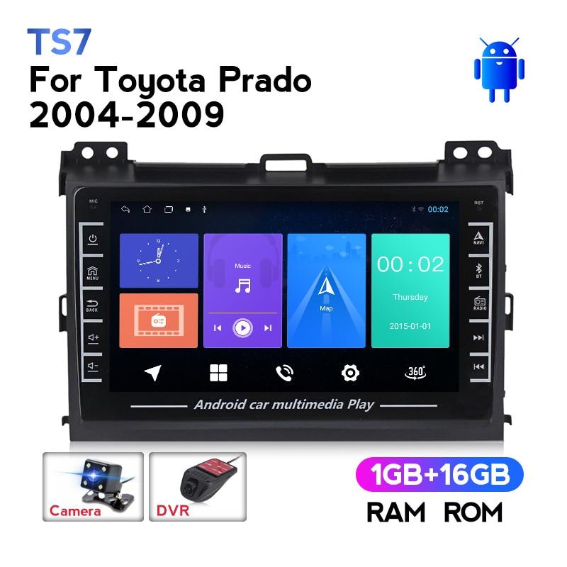 Автомагнитола MEKEDE с Android, GPS-навигацией, Wi-Fi, мультимедийный проигрыватель для Toyota Land Cruiser Prado 120 2004-2009 1280*720