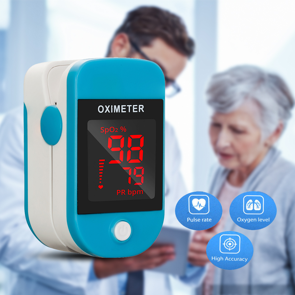 Oximeter Finger Clip Heart Rate Monitoring Finger Oxygen Heartbeat Pulse Blood Oxygen Saturation Detector