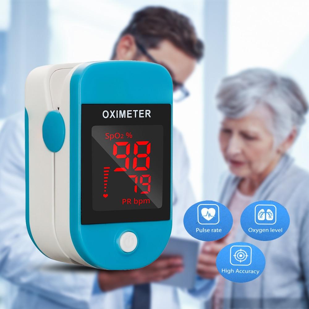 Oximeter Finger Clip Heart Rate Monitoring Finger Oxygen Heartbeat Pulse Blood Oxygen Saturation Detector