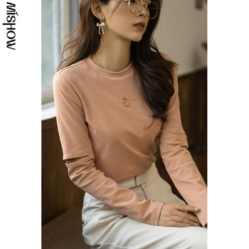 MISHOW 2020 Spring T-Shirt For Women stitching Sleeve Streetwear Outdoor Tshirt Fashion Tee Tops Female Clothing MX21A3623 1