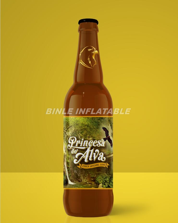 Customized commercial giant inflatable beer bottle/wine bottle inflatable beer cans model for advertising