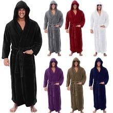 Men Winter pajamas Bathrobe Comfortable Home Clothes Sleepwe