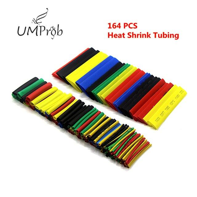 Cable de Tubo Termocontraíble retráctil de poliolefina de Color, manguito de aislamiento de Cable/16 ~ 14AWG, macho, hembra, Conector de bala, 164 Uds.